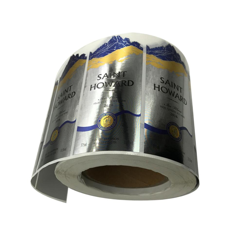 Personalizado adhesivo 3M de la hoja de Metal nombre de marca en relieve adhesivo etiqueta engomada de la etiqueta para botellas