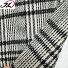 Graphic Customization [ Yarn Dyed ] Yarn Dyed Plaid Fabric Wholesale Wool Poly Blend Tweed Plaid Tartan Yarn Dyed Wool Fabric For Coats