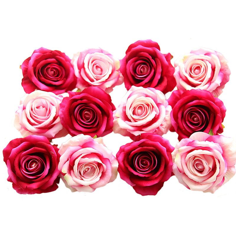 Fake flowers <strong>heads</strong> Bulk Silk <strong>Rose</strong> Bud Artificial Flower for Wedding Party Home