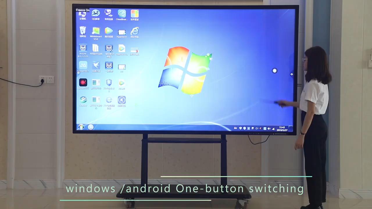 86 Inch 4K Touch Screen Interactive Whiteboard Teaching Board Smart boards For School