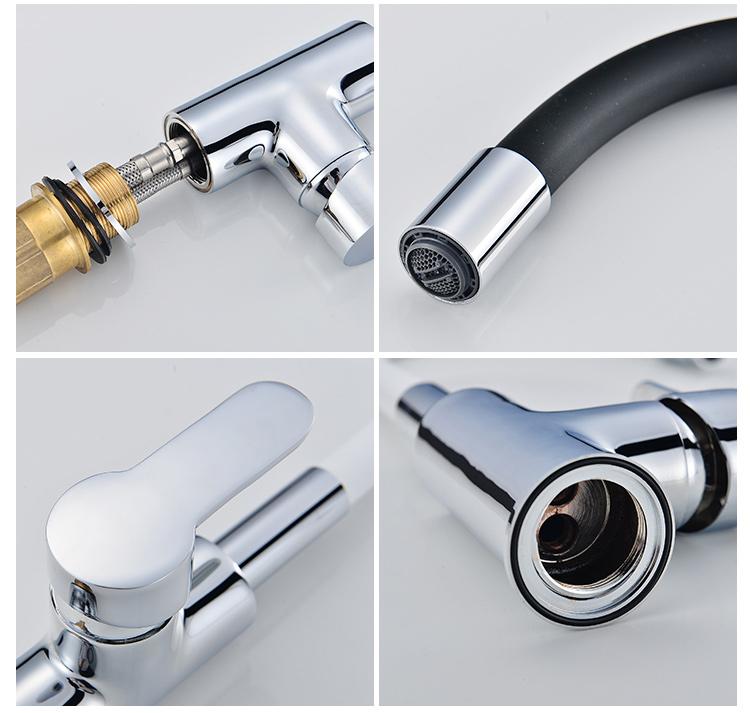 חדש עיצוב שחור גמיש זרבובית צינור מטבח ברז סיליקון ברז