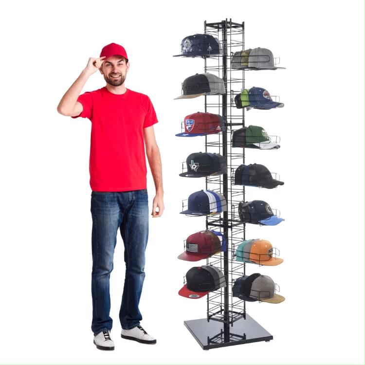custom new ideas vertical baseball hat rack best 4 side cap gridwall display rack buy floor standing metal wire 4 sided baseball hat rack best
