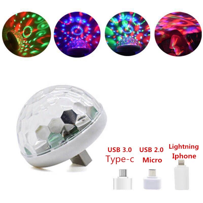 china magic bulb small car lamp usb party home light dj disco ball mini led disco lights