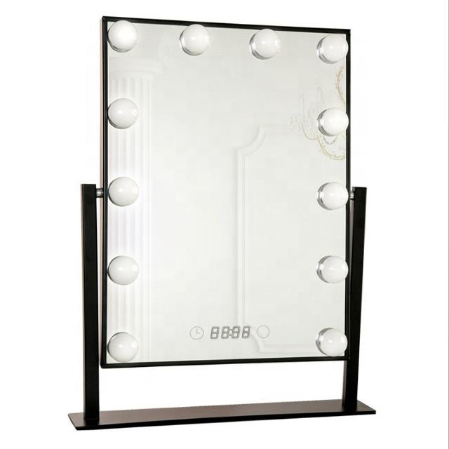 Venda quente Barato Hollywood Espelho Levou Espelho de Maquilhagem Com Luz Led