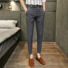 Мужские брюки, повседневные деловые брюки в английском стиле, модные офисные брюки для свадьбы, 2020(Китай)