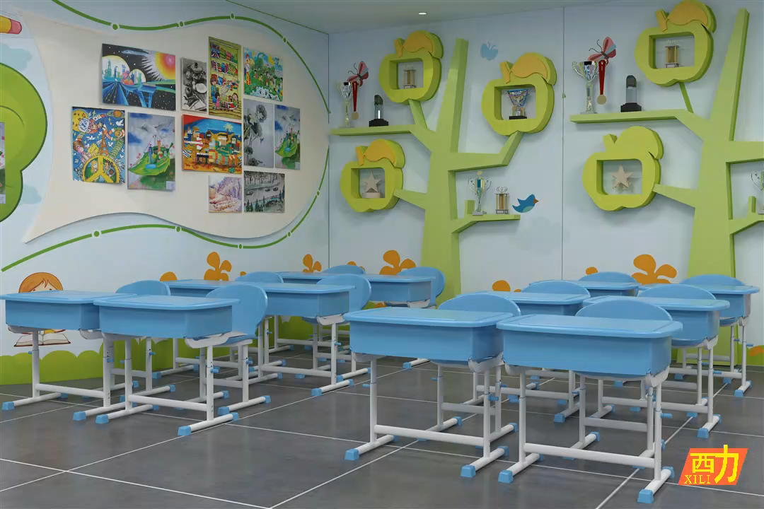 wholesale kids table chair kids study table and chair green color study table chair kids