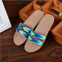 High quality flax slippers indoor slipper linen home for the summer slippers for women