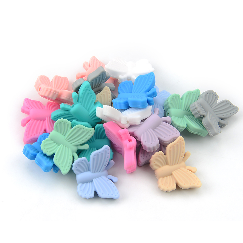Custom BPA Free FDA Letter Beads Alphabet Silicone Teething Beads