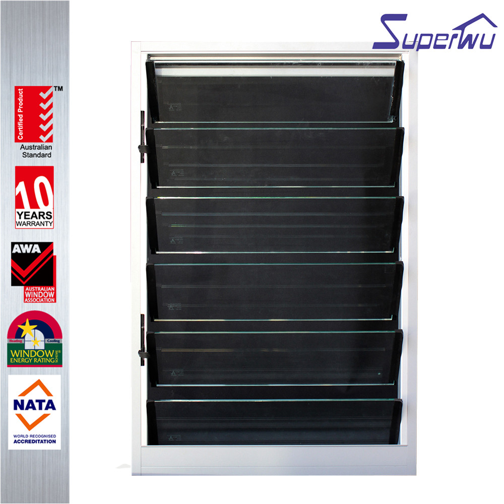Australia standard aluminium glass louvers shutter window residential sliver color louver window