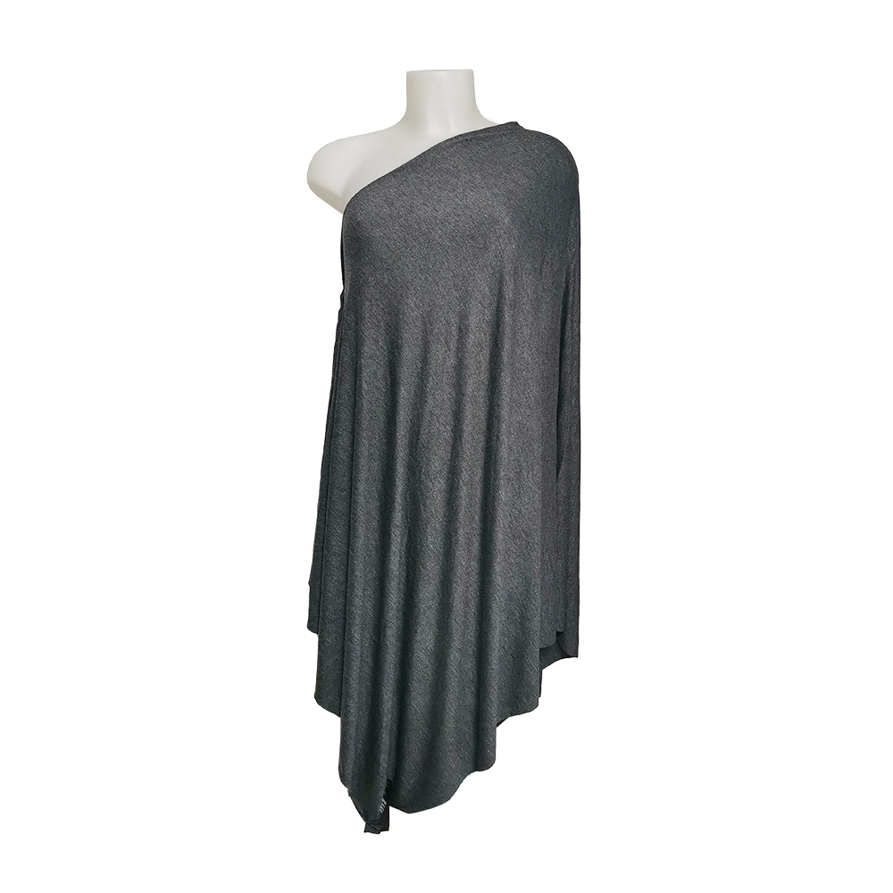 Wholesale Brand OEM Unisex Gray Headcloth Neck Scarf for women- Made In Italy- 95%Vi 5% elastane