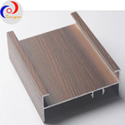 Wooden [ Doors And Windows ] Door Profile Powder Coated Aluminum Wood Finish Profile For Doors And Windows
