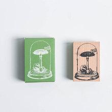 Старинные стеклянные растения украшения марки Канцтовары diy марки для скрапбукинга Стандартный штамп Деревянный Журнал поставок(Китай)