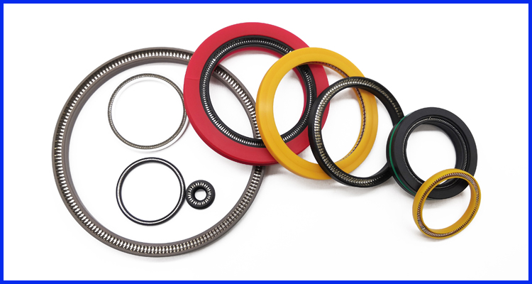 High Pressure PTFE/UPE/PEEK Rotary Seal Spring  Energized Seal