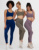 Wholesale New Ribbed Two pcs Set Gym Wear Seamless Yoga Women'S Sports Set Ribbed Top Bra And Ribbed Pants