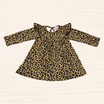 Sassy wholesale baby girl flutter dress frock designs fancy pearl dresses for baby girl