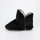 plush warm home woman TPR outsole indoor slipper boots ladies boots