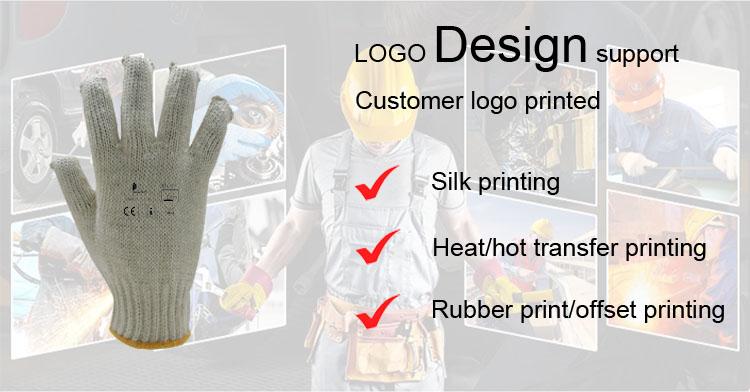 DDSAFETY blanco Natural de trabajo de algodón guantes de mano máquina de fabricación de CE 1010