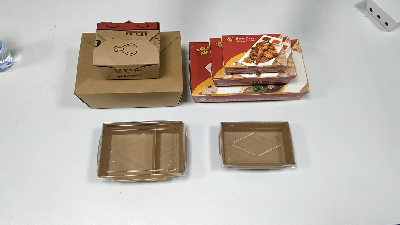 Wholesale high quality chinese products custom biodegradable kraft paper fruit vegetable salad take away food box