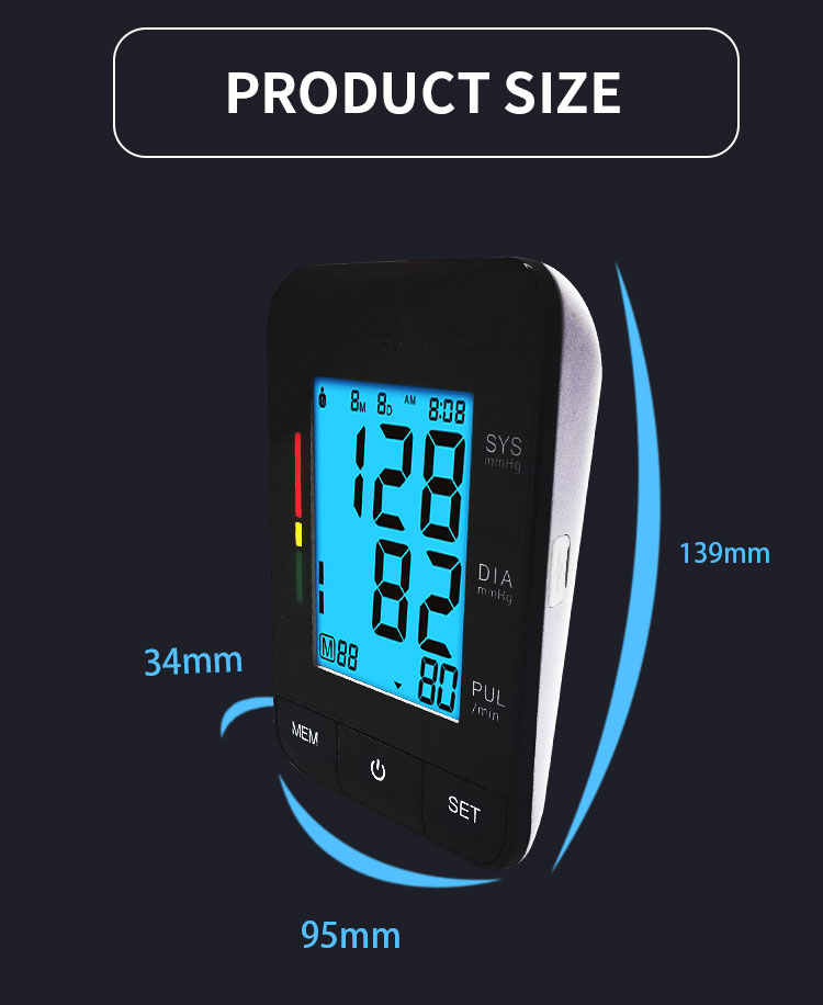 Hot Sale Portable Wireless Blood Pressure Monitor with USB rechargeable