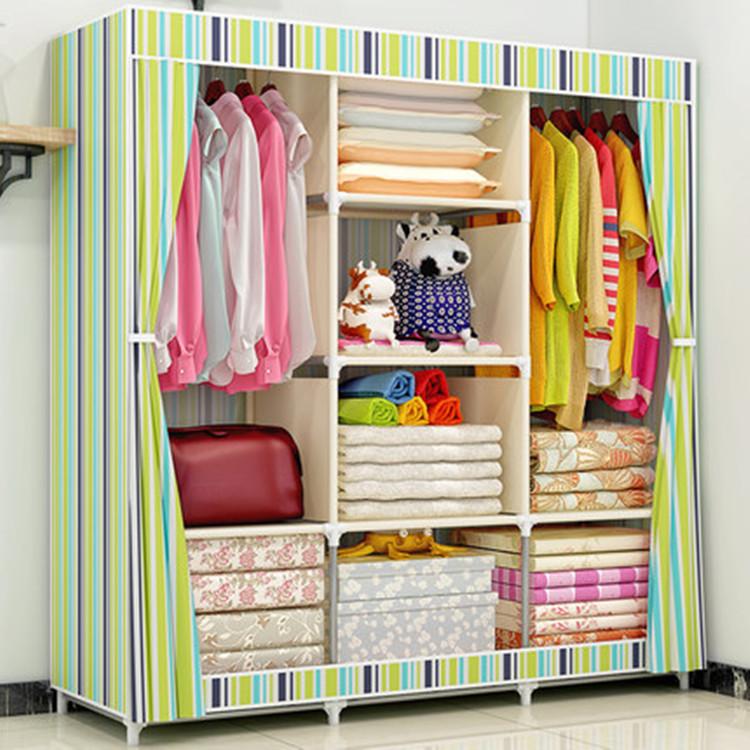Giá rẻ tủ quần áo phòng ngủ đồ nội thất tủ quần áo tủ thép almirah