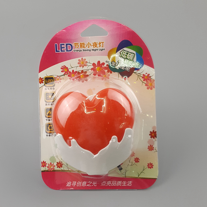 W120 Heart in hand switch plug in led night light For Baby Bedroom  Valentine's day gift