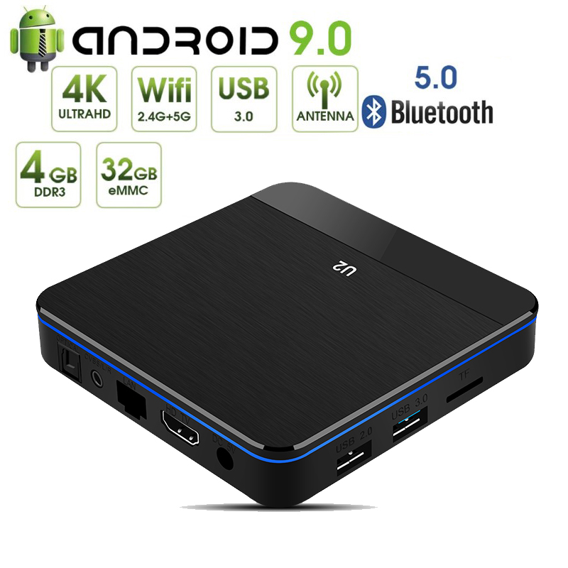 U2 2019 Nuovo Prodotto Amlogic S905X2 Quad-Core Smart TV Box X96 MAX 4GB di RAM 32GB di ROM dual Band WIFI