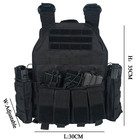 Tactical Airsoft Paintball Molle Combat Heavy Duty Large Loading Plate Carrier Tactical Vest