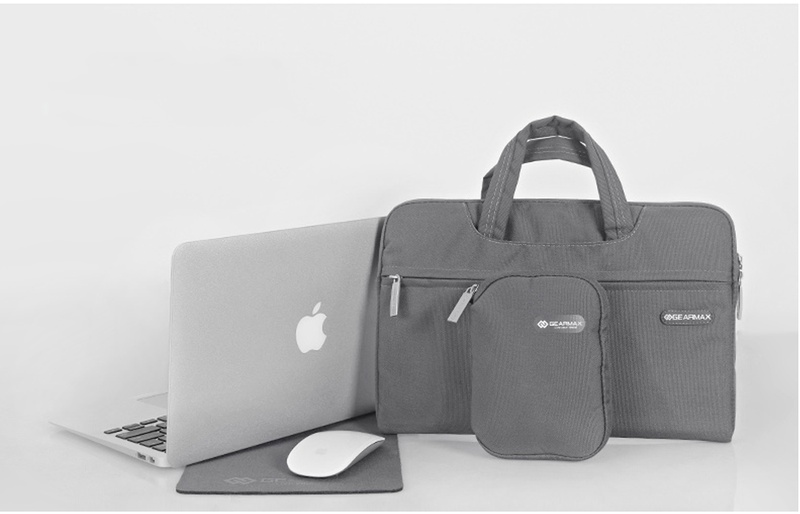 WiWU Gearmax Campus Slim Case  Waterproof Laptop Messenger Bag for Macbook with Small Case and Mousepad, Mulit-Color