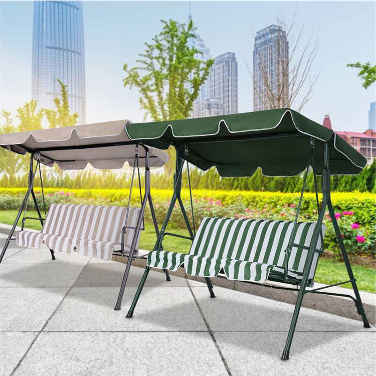 Hot Sale Furniture Supplies 3 Seats Patio Hanging Outdoor Garden Swing Chair With Stand for Sale