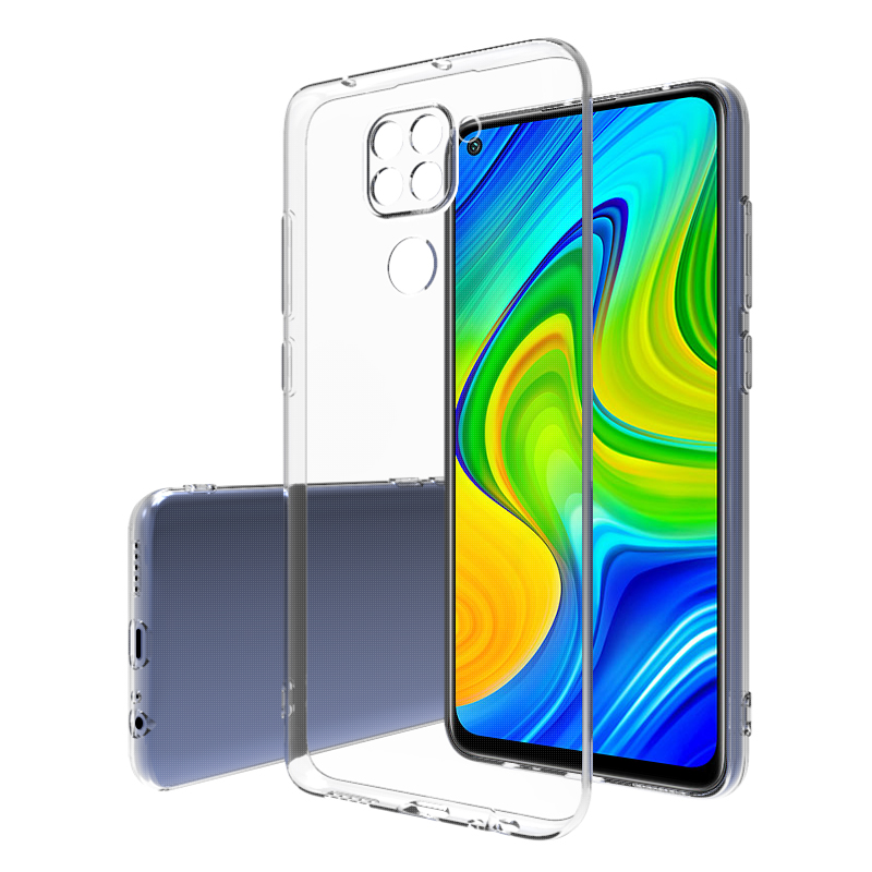 Ramah Lingkungan Ultra Tipis Jelas Lembut TPU Silikon Ponsel Kembali Case Penutup untuk Redmi 9 10X Note 8 9 Pro