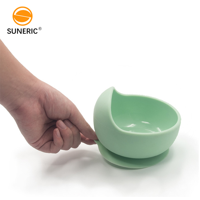 Modern Baby Feeding Bowl Set Non Spill Silicone Bowl for Baby with Spoon Baby Suction Bowl