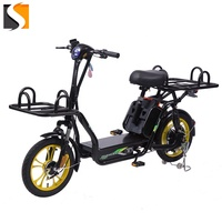 CE Newest Design 400w motor 48v 2*20ah lithium battery delivery food Electric Bicycle