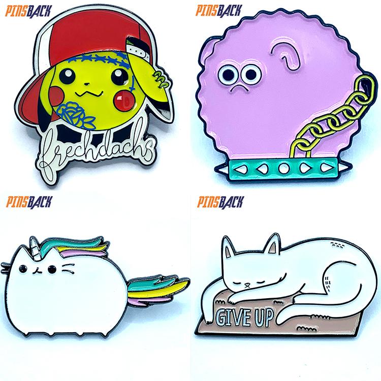 Custom lapel pins die casting customized enamel pins soft enamel rubber clutches hard enamel type for lapel pins