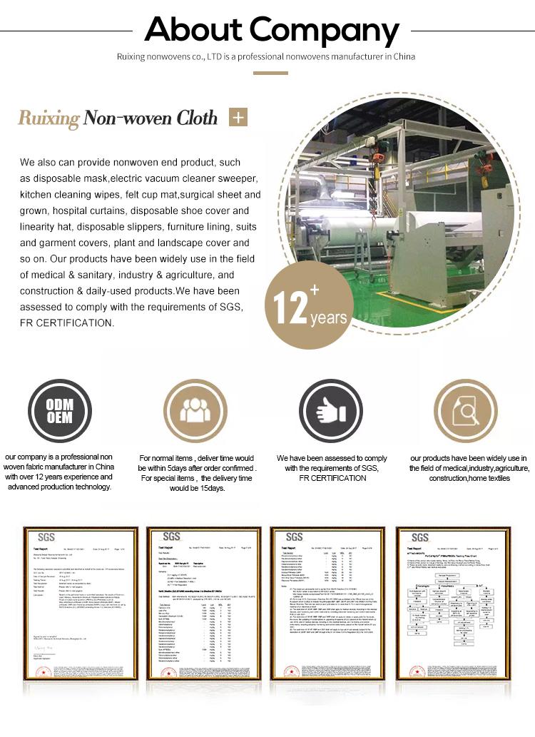 Pp Fabricação de Material Não-Tecido De Polipropileno Reciclado Tecido 70 gsm