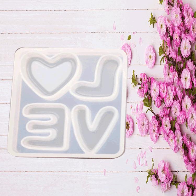 Diy क्रिस्टल ड्रॉप प्लास्टिक मोल्ड प्यार प्यार सिलिका जेल मोल्ड गहने सजावट handcraft आभूषण उच्च दर्पण मोल्ड
