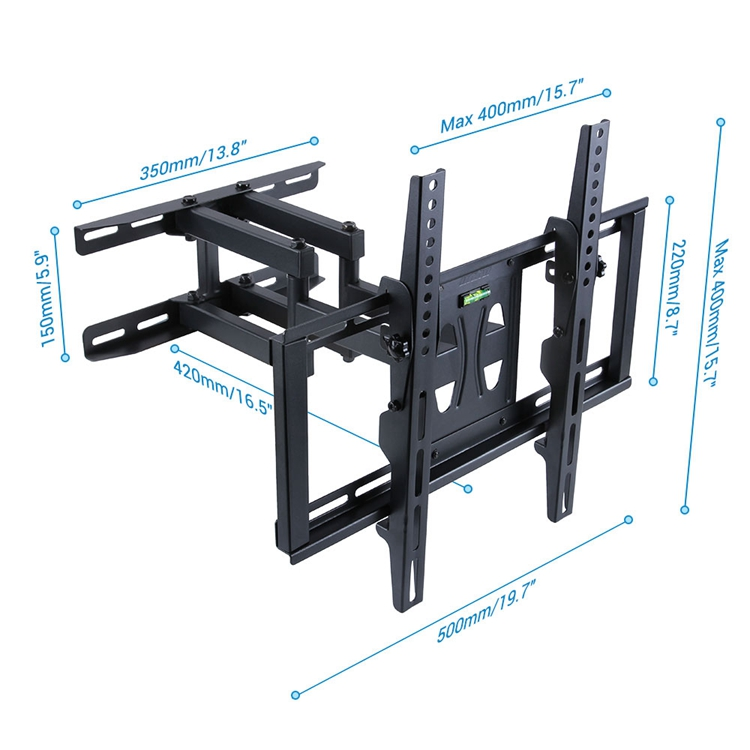 Load Capacity 99lbs Television Holder <strong>Swiveling</strong> Dual Arm <strong>TV</strong> Wall Mount <strong>Bracket</strong>