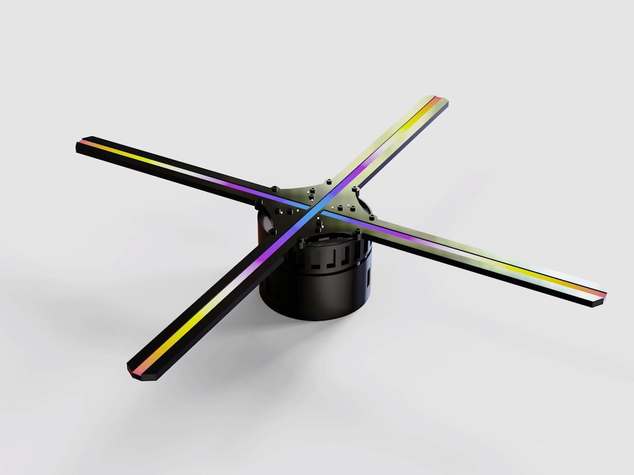חדש פרסום הולוגרפי LED תצוגת 3D הולוגרמה מאוורר