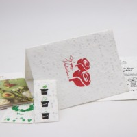 promotional plantable seed paper customer size eco paper seed paper card