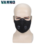 VANNO Unisex Running Fitness Bicycle Haft Face Mask Mouth Cover Anti Dust Mask with Nose Bridge Design