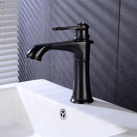 Bathroom Fittings Fixture Lavatory Copper Hot Cold Water Mixer Tap Vintage ORB Black Brass Wash Basin Faucet