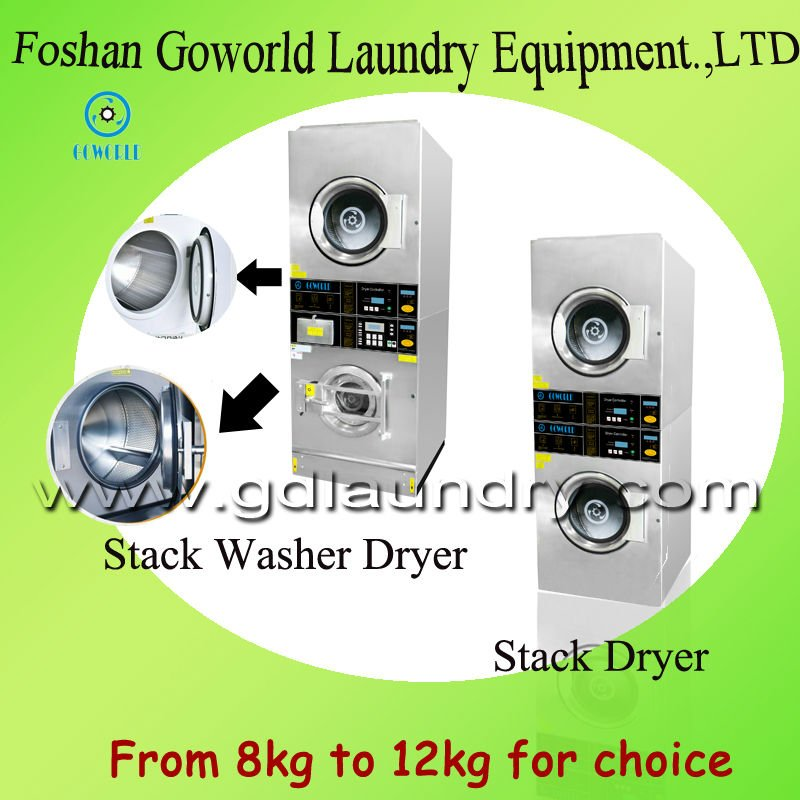 10kg Coin Operate electric heating combo washer dryer