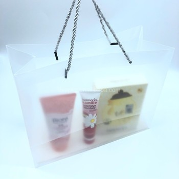 Promotion PP Gift Clear Bag Custom Logo Reusable Frosted Plastic PVC bag