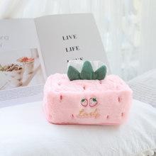 Переносная плюшевая коробка с мишкой-единорогом, прочная плюшевая коробка для дома и автомобиля, декоративная ткань, чехол для салфеток, ...(Китай)