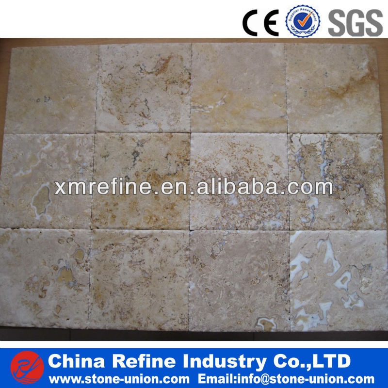 Travertine tiles for floor and walls