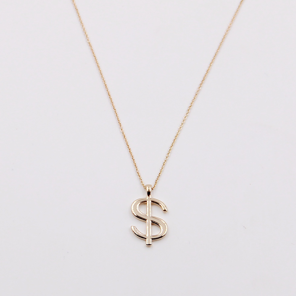 Latest <strong>fashion</strong> 18k gold plated symbol pendant necklace for women