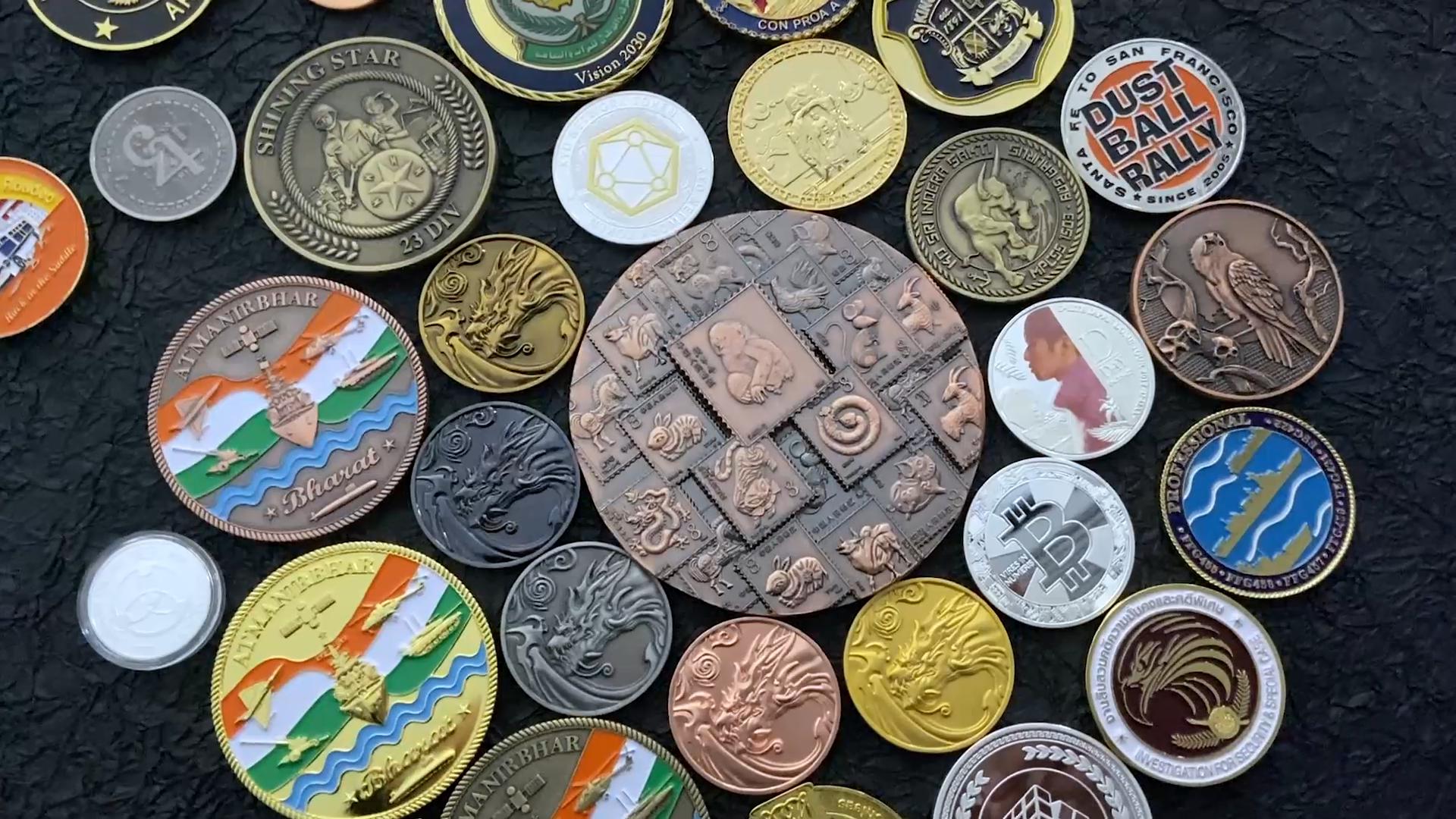 cheap Coin Maker Custom Metal gold Silver tourist souvenir challenge Coin business gift Custom Metal Coins
