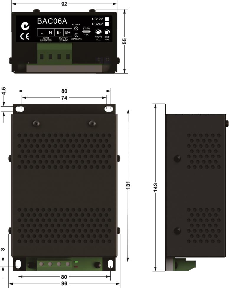 12v 24v Smartgen Original Floating Battery Charger Bac06a