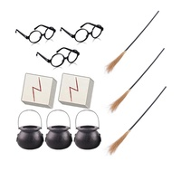 Kids Halloween Wizard Party Favors Cauldron Glasses Plastic Glasses Scar Tattoos izard School Theme harry potter Party supplies