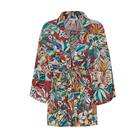 Summer new youth short coat women art wind color print short coat