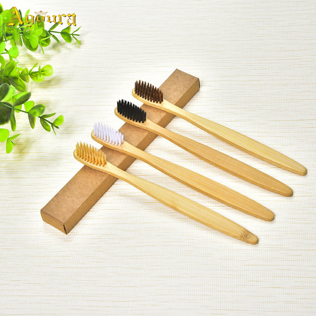 New ecofriendly wooden toothbrush bamboo handle toothbrush
